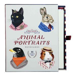 Bog, ukendt format Berkley Bestiary Animal Portrait Greeting Card Assortment af Galison
