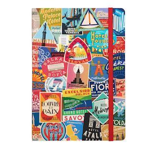 Bog, paperback Troy Litten Vintage Travel Labels Gilded Planner af Galison