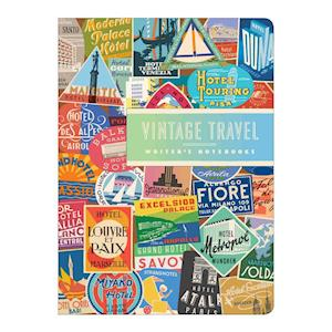 Bog, paperback Troy Litten Vintage Travel Labels Writer's Notebook Set af Galison