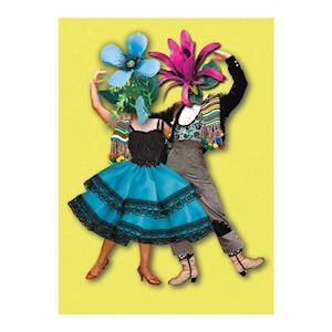 Bog, paperback Flower Dancers A6 Notebook af Christian Lacroix