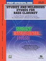 Student Instrumental Course Studies and Melodious Etudes for Bass Clarinet af Robert Lowry, Neal Porter, James Ployhar