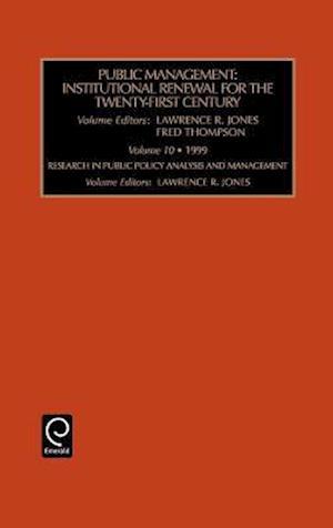 Public Management af Fred Thompson, Lawrence R Jones