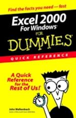 Excel 2000 for Windows for Dummies Quick Reference (For Dummies Quick Reference Computers)