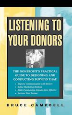 Listening to Your Donors (JOSSEY BASS NONPROFIT & PUBLIC MANAGEMENT SERIES)