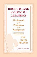Rhode Island Colonial Gleanings af James N. Arnold