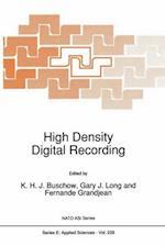 High Density Digital Recording (CONTRIBUTIONS TO PHENOMENOLOGY, nr. 229)
