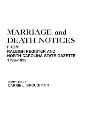 Marriage and Death Notices from