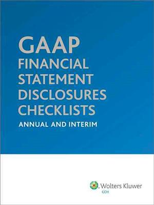 GAAP Financial Statement Disclosures Checklists af Cch Tax Law