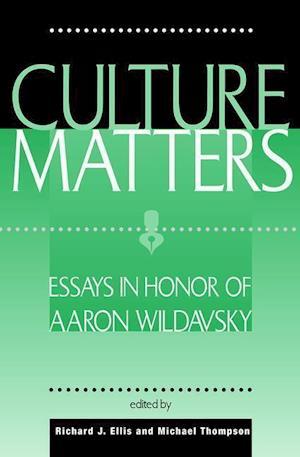 Culture Matters af Michael Thompson, Richard J Ellis