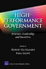 High-performance Government af Robert Klitgaard