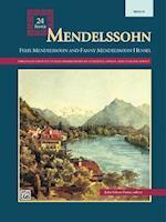 Mendelssohn -- 24 Songs af Felix Mendelssohn-Bartholdy, Fanny Mendelssohn