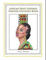 African Print Inspired Fashion Coloring Book