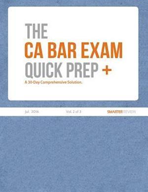 Bog, paperback The CA Bar Exam Quick Prep Plus (Vol. 2 of 3)