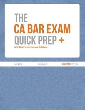Bog, paperback The CA Bar Exam Quick Prep Plus (Vol. 3 of 3)