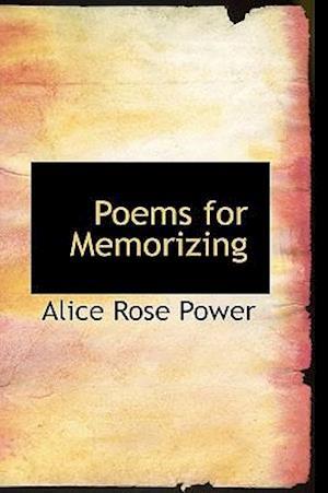Poems for Memorizing af Alice Rose Power
