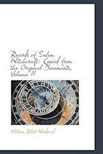Records of Salem Witchcraft af William Elliot Woodward