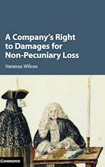 A Company's Right to Damages for Non-Pecuniary Loss af Vanessa Wilcox