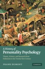 History of Personality Psychology af Frank Dumont