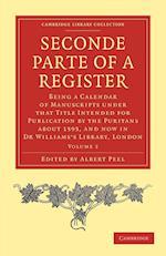 Seconde Parte of a Register af Albert Peel