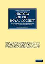 History of the Royal Society af Thomas Thomson