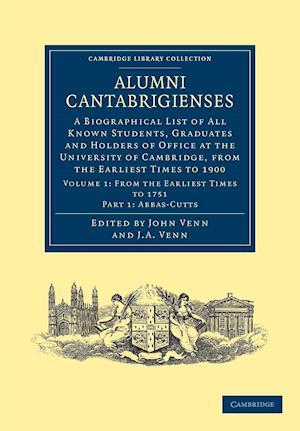 Alumni Cantabrigienses af John Archibald Venn, John Venn