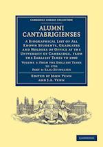 Alumni Cantabrigienses af John Venn, John Archibald Venn