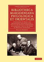 Bibliotheca Marsdeniana Philologica Et Orientalis af William Marsden