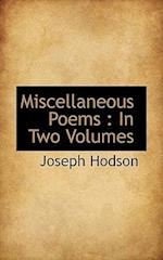 Miscellaneous Poems af Joseph Hodson