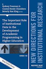 The Important Role of Institutional Data in the Development of Academic Programming in Higher Education (J-b Ir Single Issue Institutional Research)