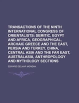 Transactions of the Ninth International Congress of Orientalists af Edward Delmar Morgan