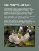 Bulletin Volume 85-91 af Charles Albert Crampton