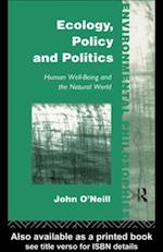 Ecology, Policy and Politics af John O'neill