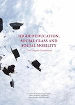 Higher Education, Social Class and Social Mobility