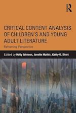 Critical Content Analysis of Children's and Young Adult Literature