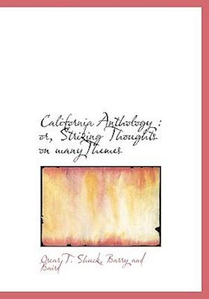 California Anthology af Oscar T. Shuck
