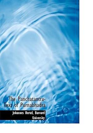 The Panchatantra-Text of Purnabhadra af Johannes Hertel