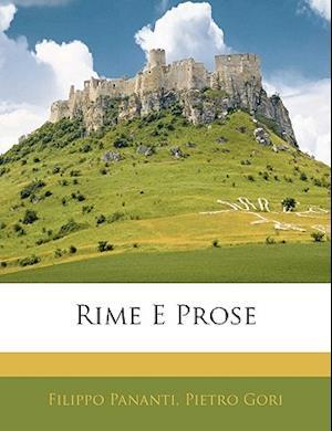 Rime E Prose af Pietro Gori, Filippo Pananti