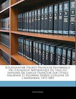 Bibliographie Italico-Francaise Universelle af Joseph Blanc
