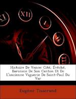Histoire de Vence af Eugene Tisserand, Eugne Tisserand