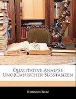 Qualitative Analyse Unorganischer Substanzen af Heinrich Biltz