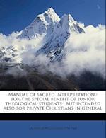 Manual of Sacred Interpretation af Alexander Mcclelland