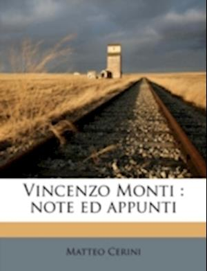 Vincenzo Monti af Matteo Cerini