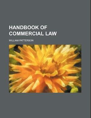 Handbook of Commercial Law af William Patterson