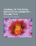 Journal of the Royal Institute of Chemistry (Volume 74-75) af Royal Institute Of Chemistry