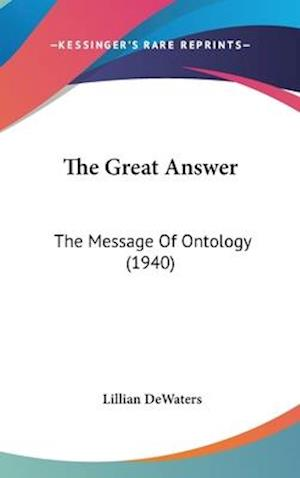 The Great Answer af Lillian Dewaters