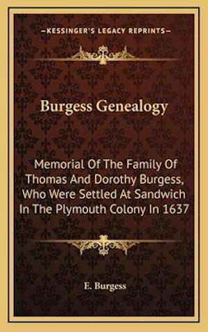 Burgess Genealogy af E. Burgess