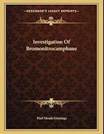Investigation of Bromonitrocamphane af Paul Meade Ginnings
