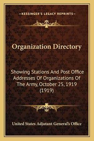 Organization Directory af United States Adjutant General's Office