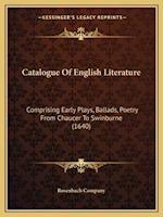 Catalogue of English Literature af Rosenbach Company