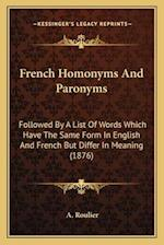 French Homonyms and Paronyms af A. Roulier